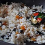 Basmati rice with dried fruit, pine nuts and almonds. Photo by Ira Mak