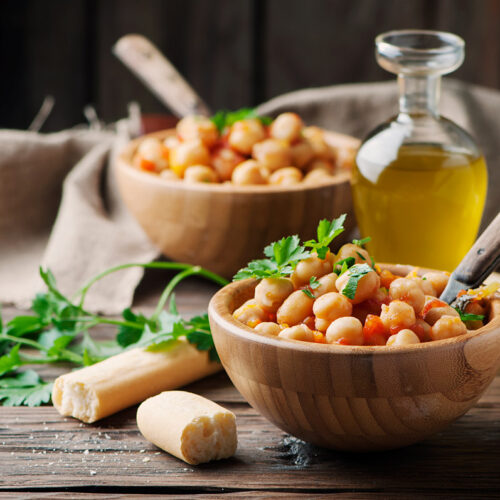 Cooked Chickpeas with Olive Oil