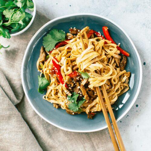 Vegan Dinner - Tofu Veggie Stir-Fry
