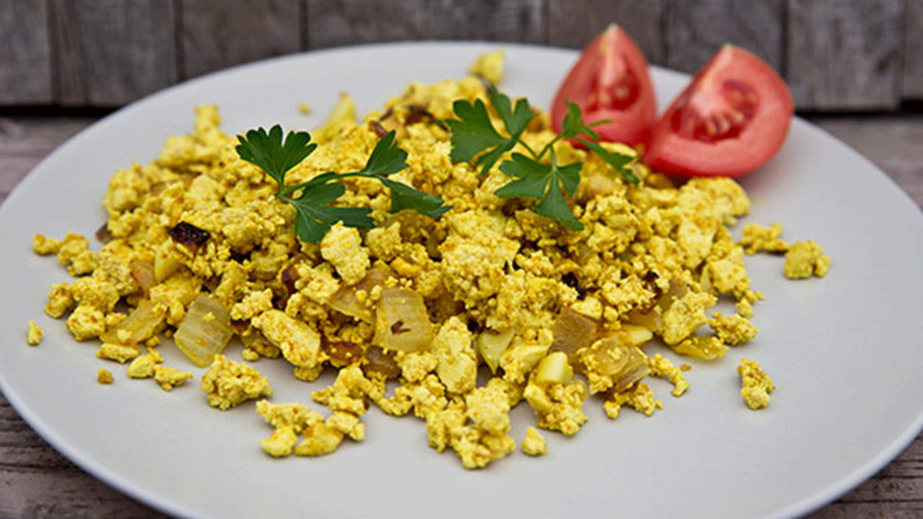 You won't believe how tasty scrambled tofu and vegan sausages are