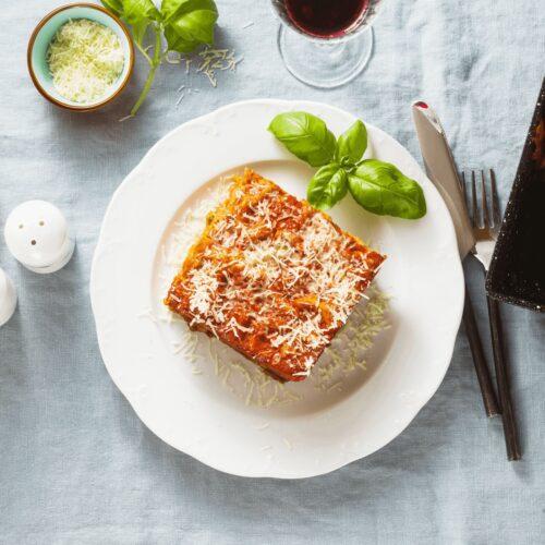 homemade vegan lasagna
