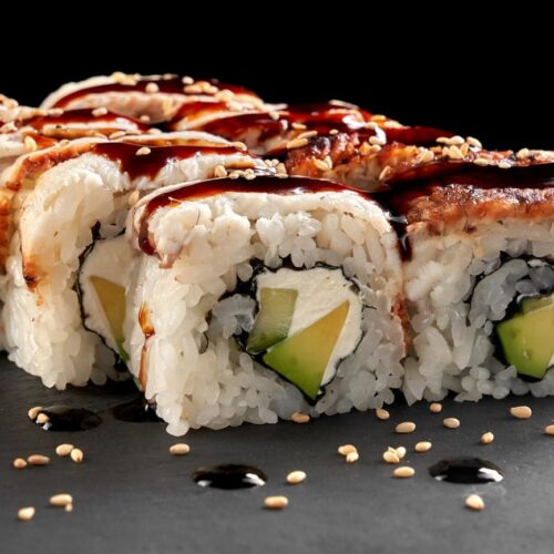 Vegan sushi for lunch